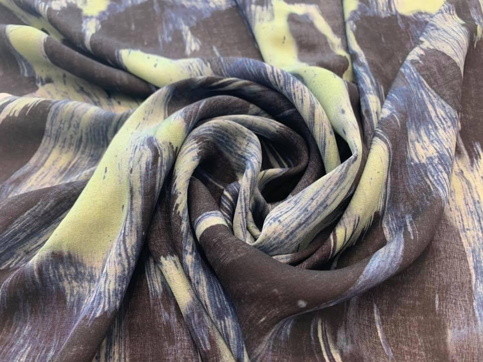 Oceans Deep Silk Georgette