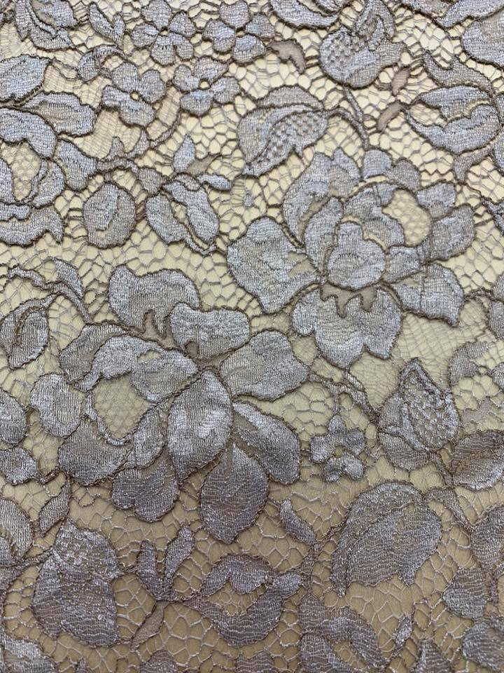 Taupe/ Gold Lace