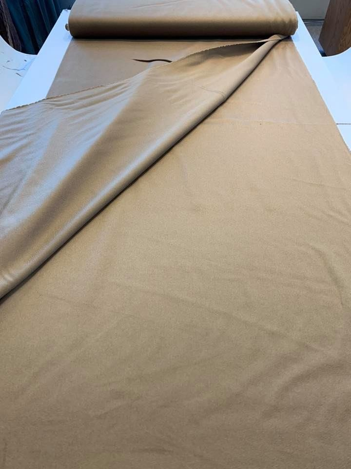 Burnished Gold Napped Cashmere Wool Blend