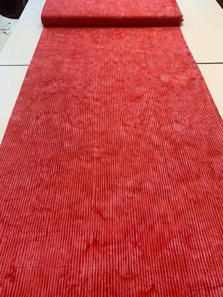 Batik Stripe in Cherry