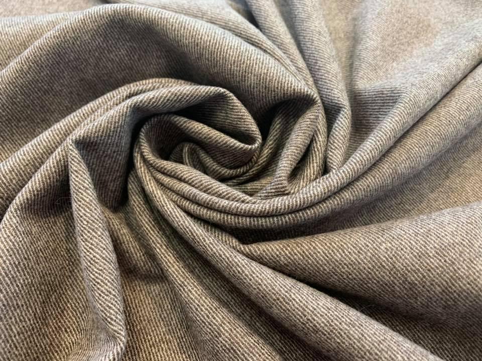 Mocha Cream Cashmere Silk Twill