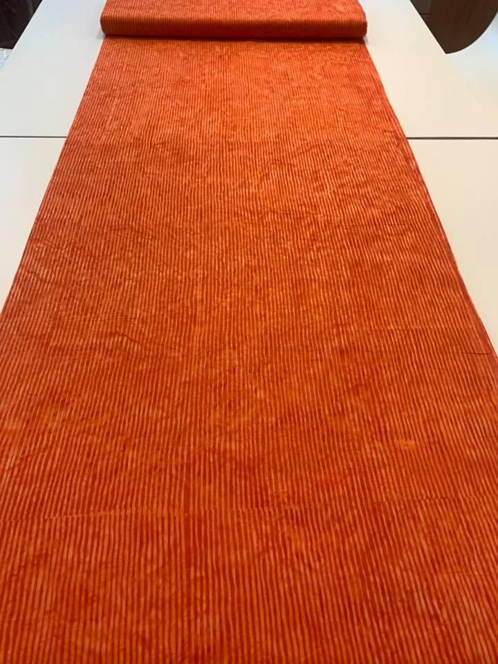 Batik Stripe in Tangerine
