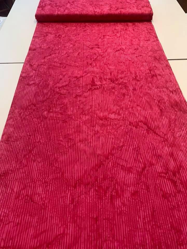 Batik Stripe in Carnation