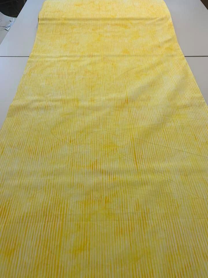 Batik Stripe in Lemon