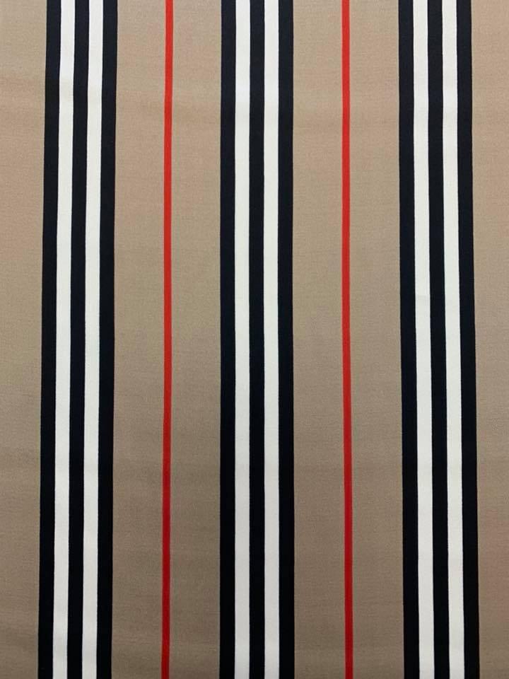 Burberry Stripe Silk Charmeuse