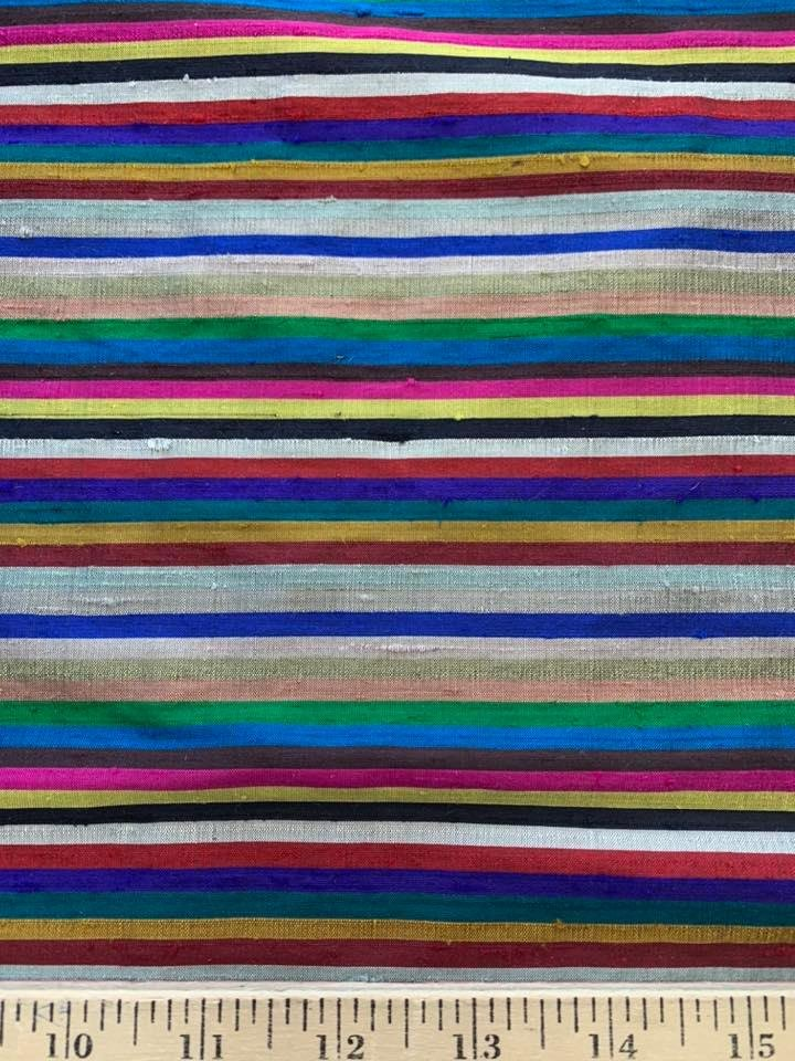 Colorful Striped Silk