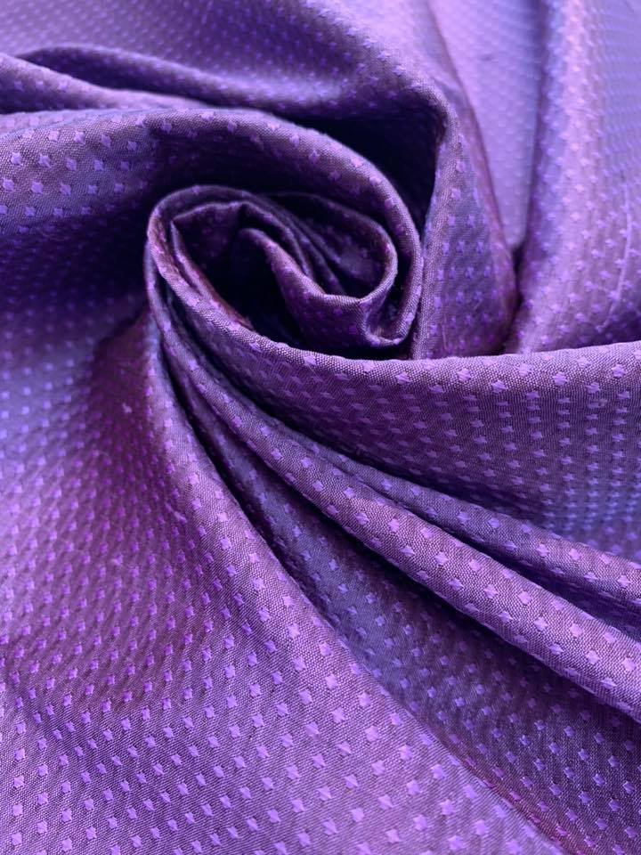 Hyacinth Silk Jacquard Shantung