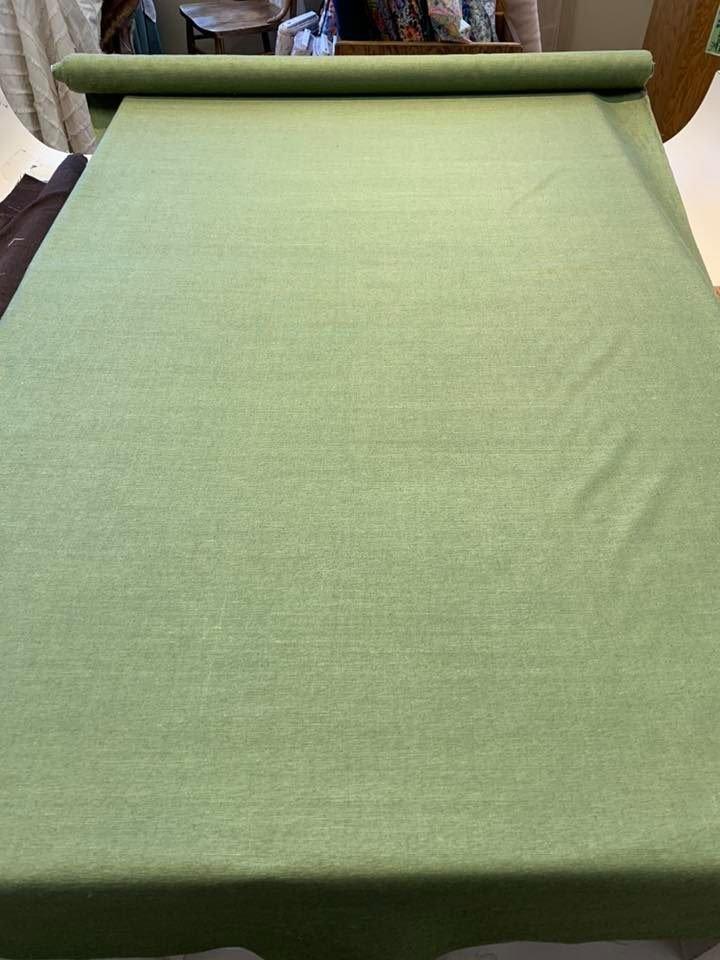 Lichen Green Raw Silk