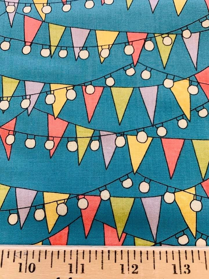 Party Flags in Teal