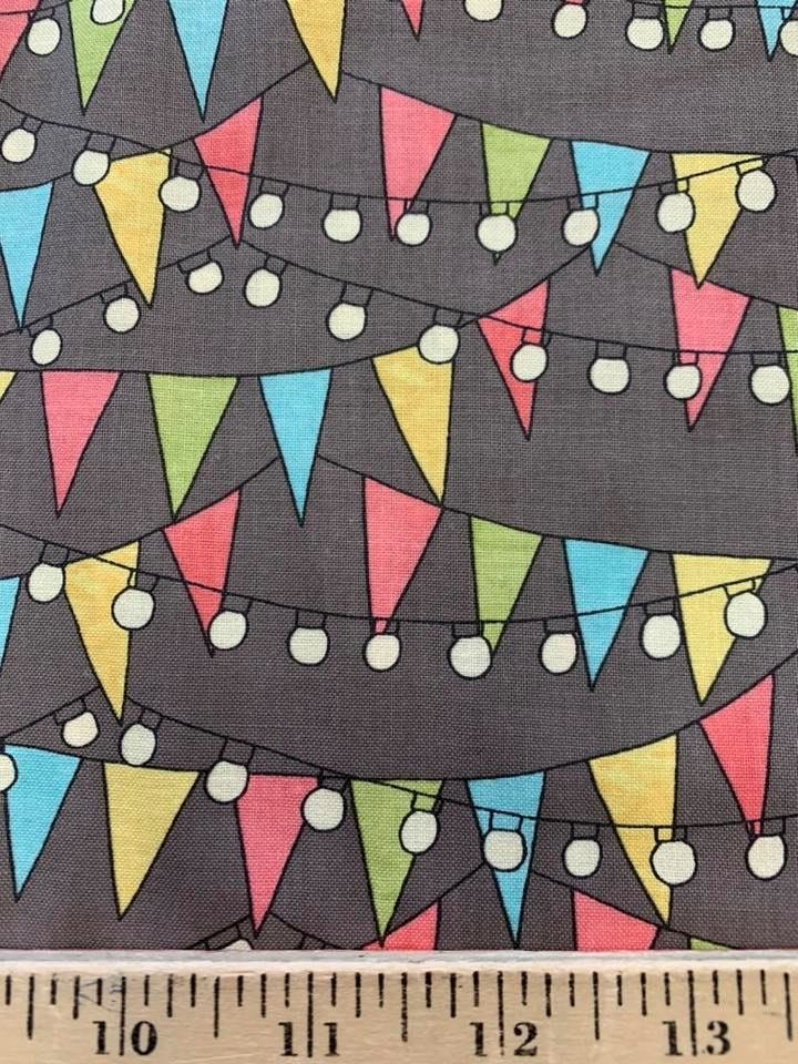 Party Flags in Grey