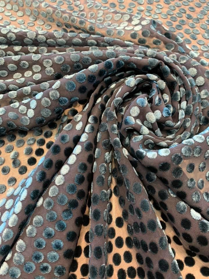 Confetti Silk Velvet in Teal