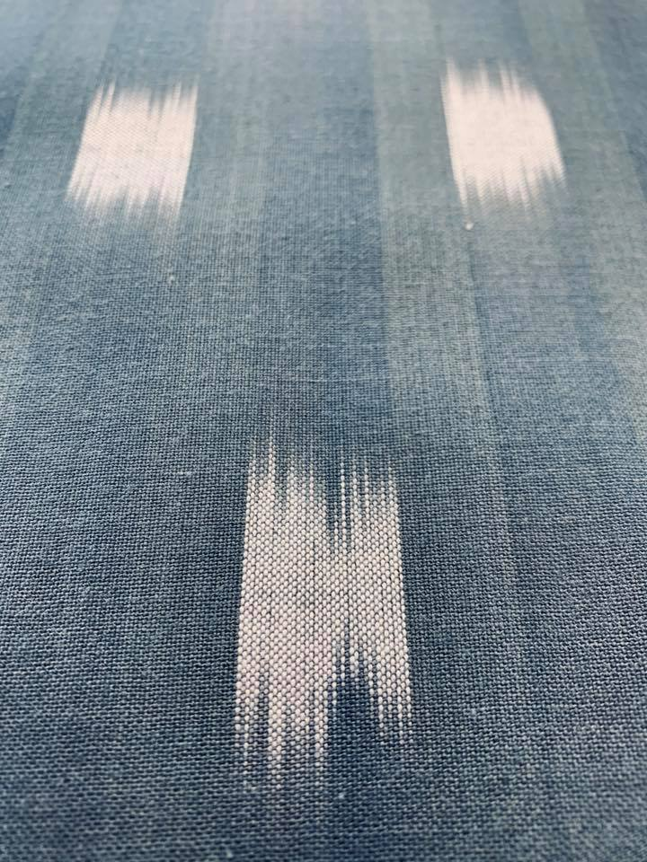 Bar Stripe Ikat in Steel