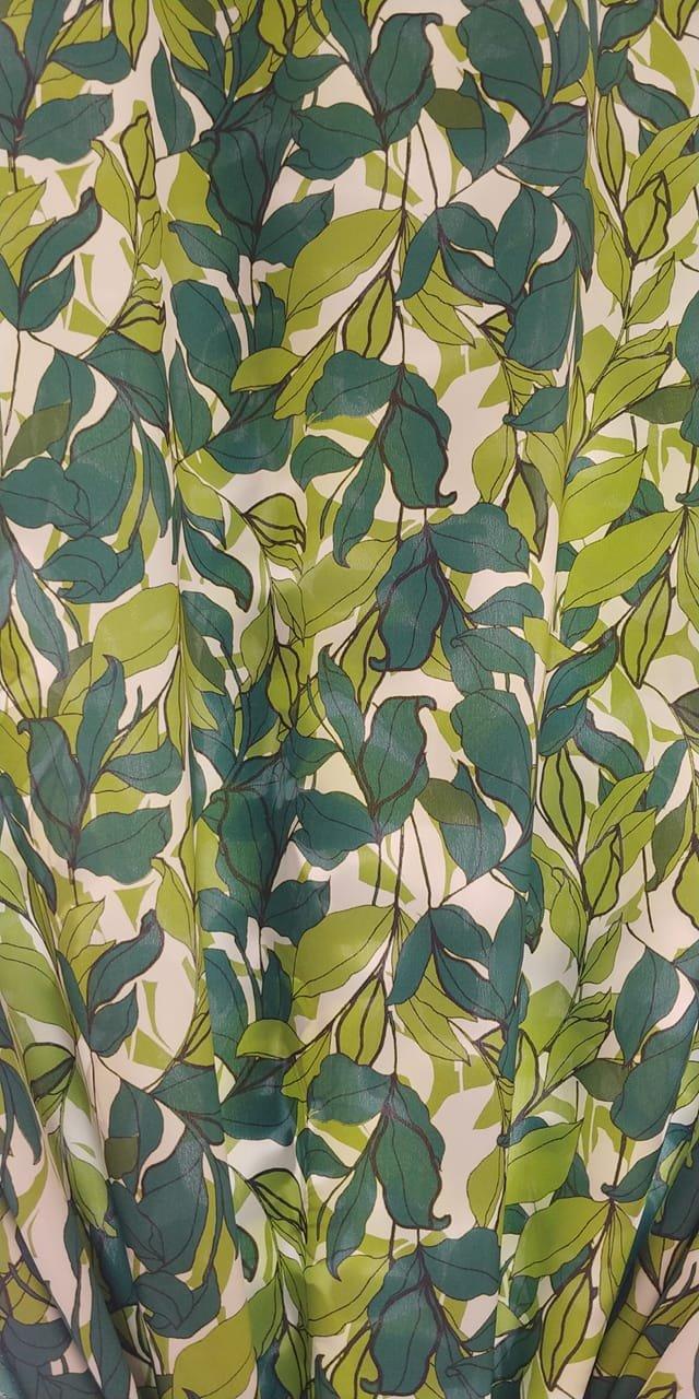 Luscious Leaves Silk Crepe