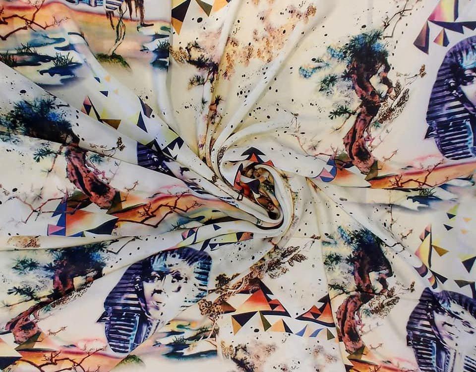 Desert Fantasy Printed Silk