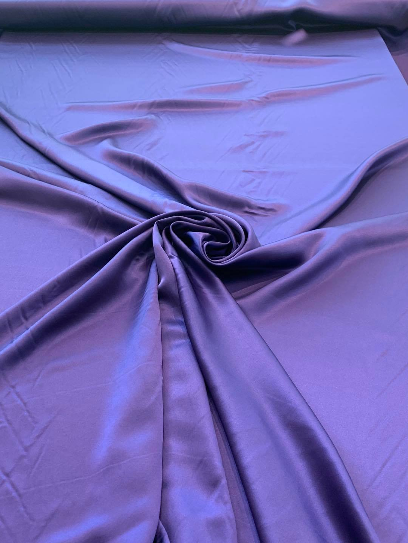 Royal Purple Silk Charmeuse