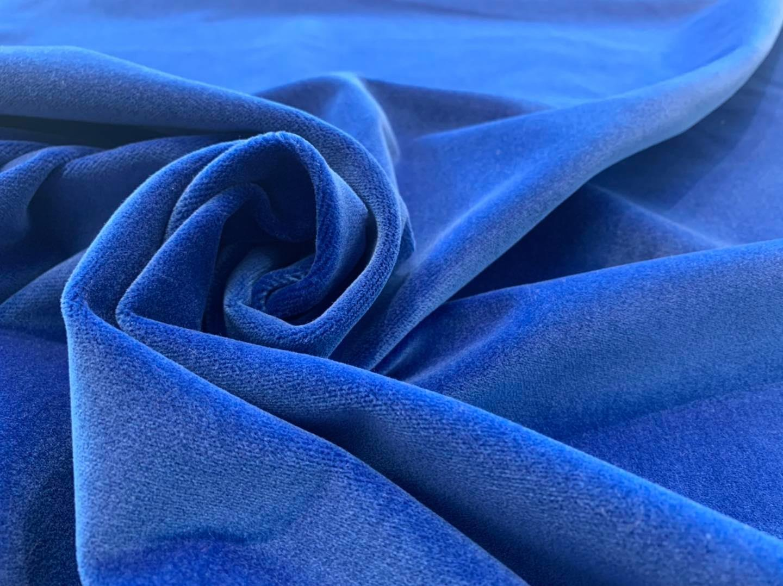 Bonnie Blue Cotton Velvet