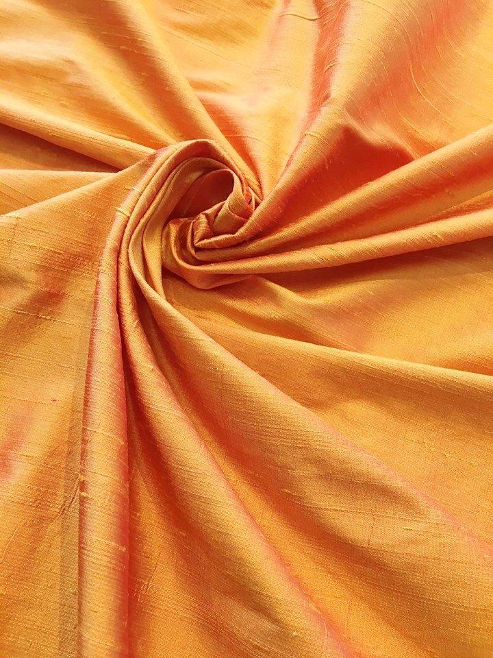 Flame Silk Dupioni
