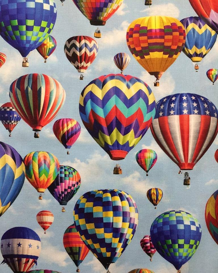 Hot Air Balloons digital print