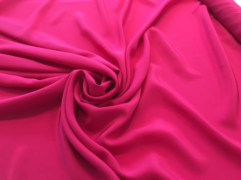 Hot Pink Peony crepe de chine