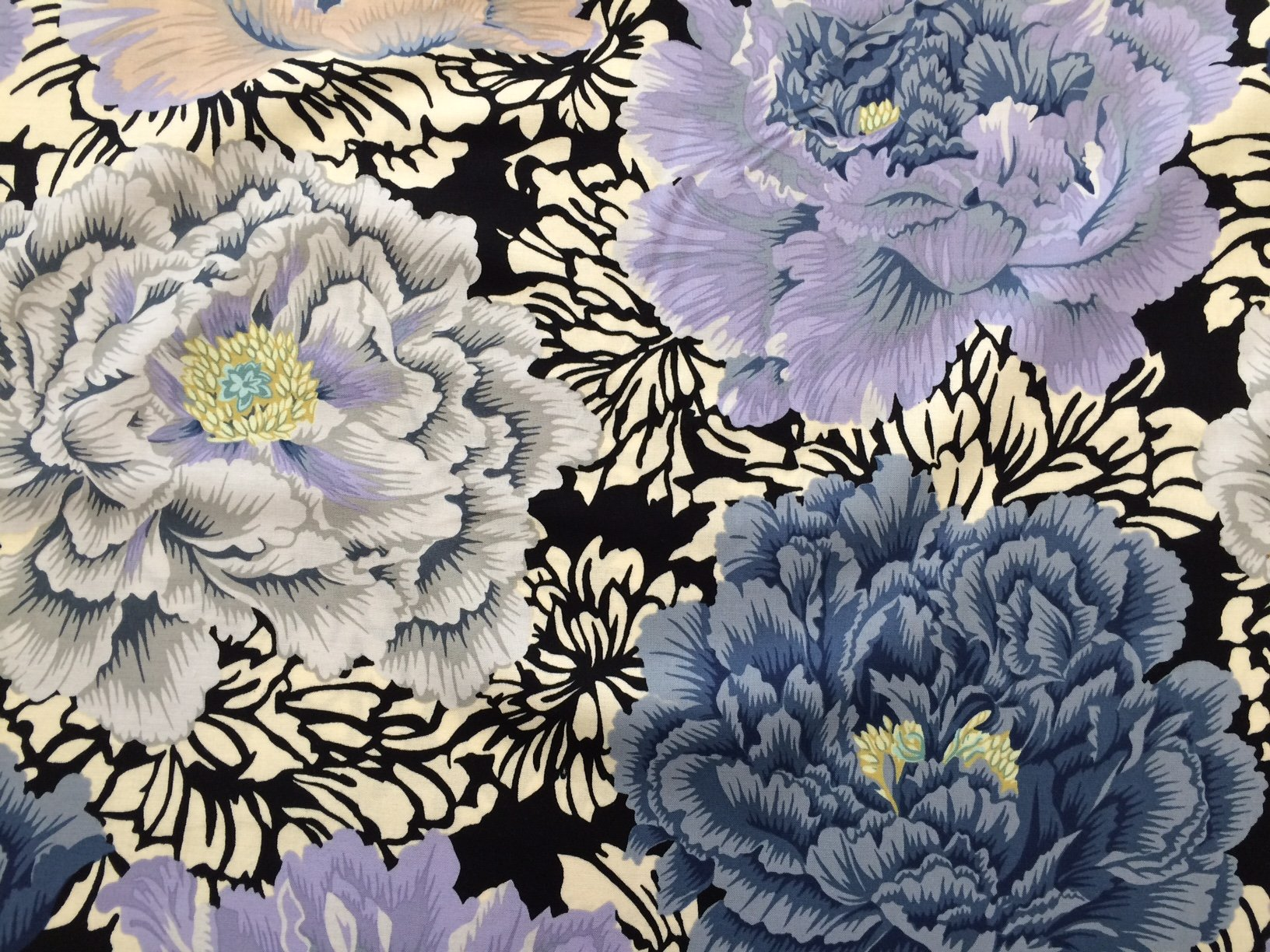 Brocade Peony in Grey:  Philip Jacobs