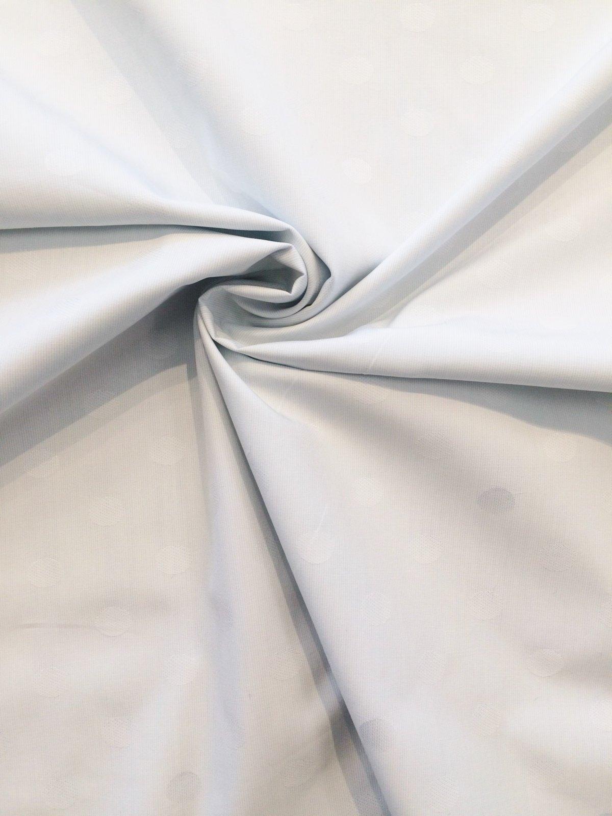 Pale Blue Jacquard Polka Dot Shirting