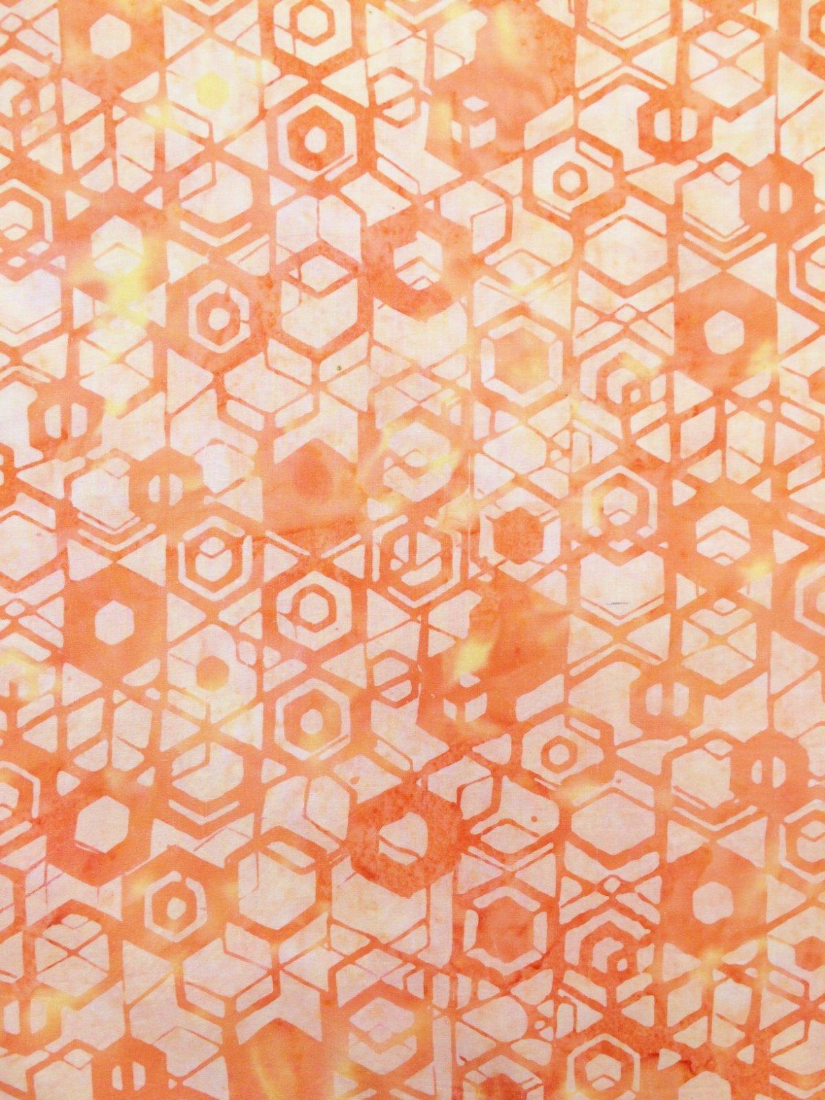 Sherbet Hexagons Batik by Hoffman