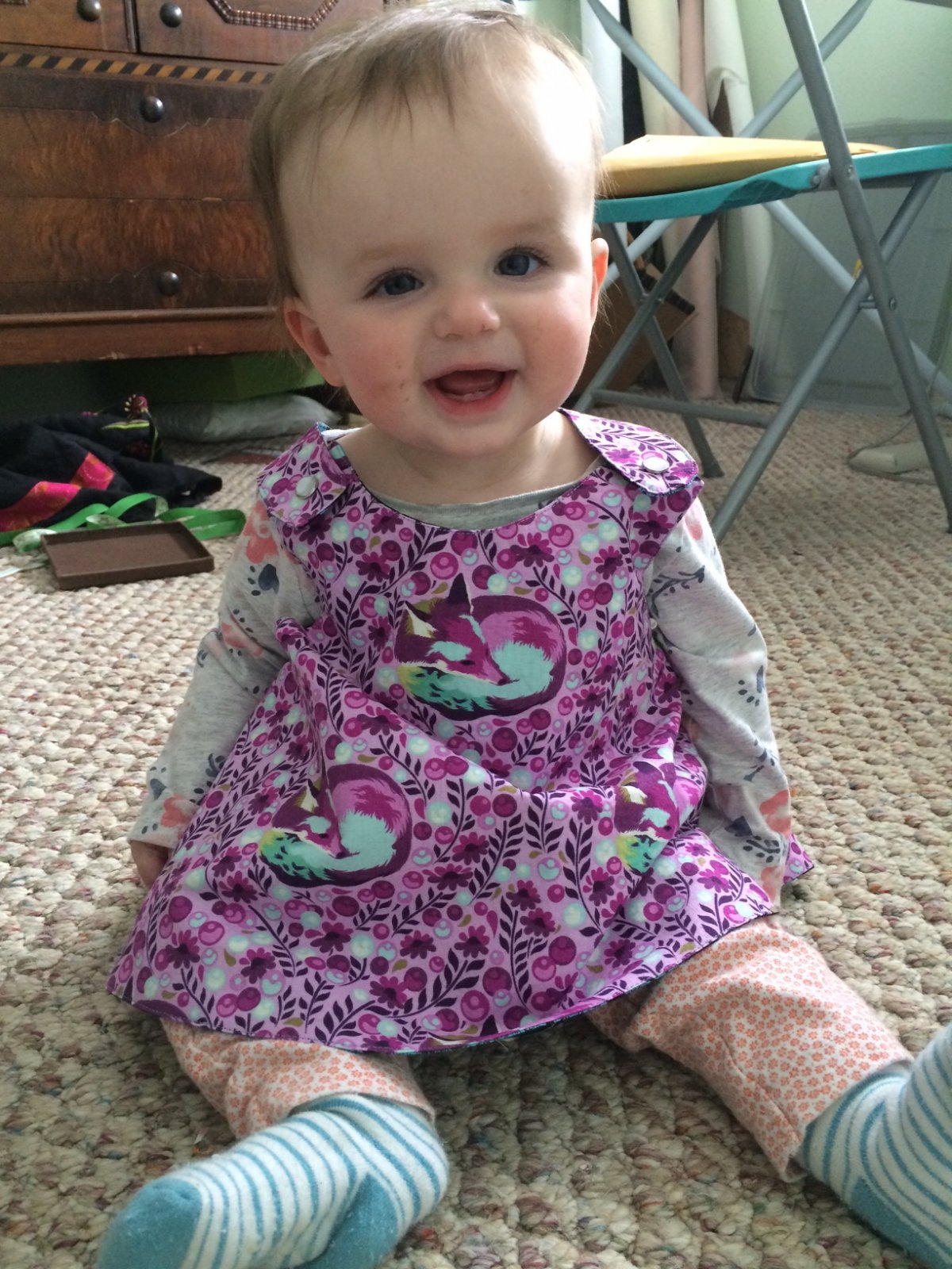 Ashley's Crossover Back Play Dress 12-18 months