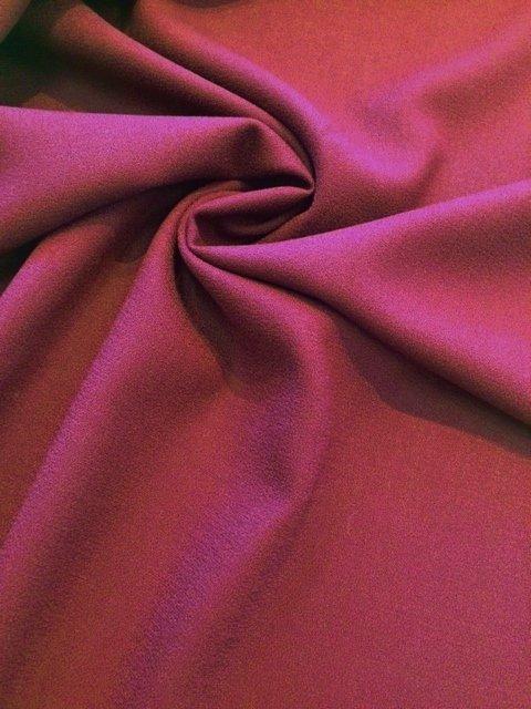 Burgundy Wool Crepe