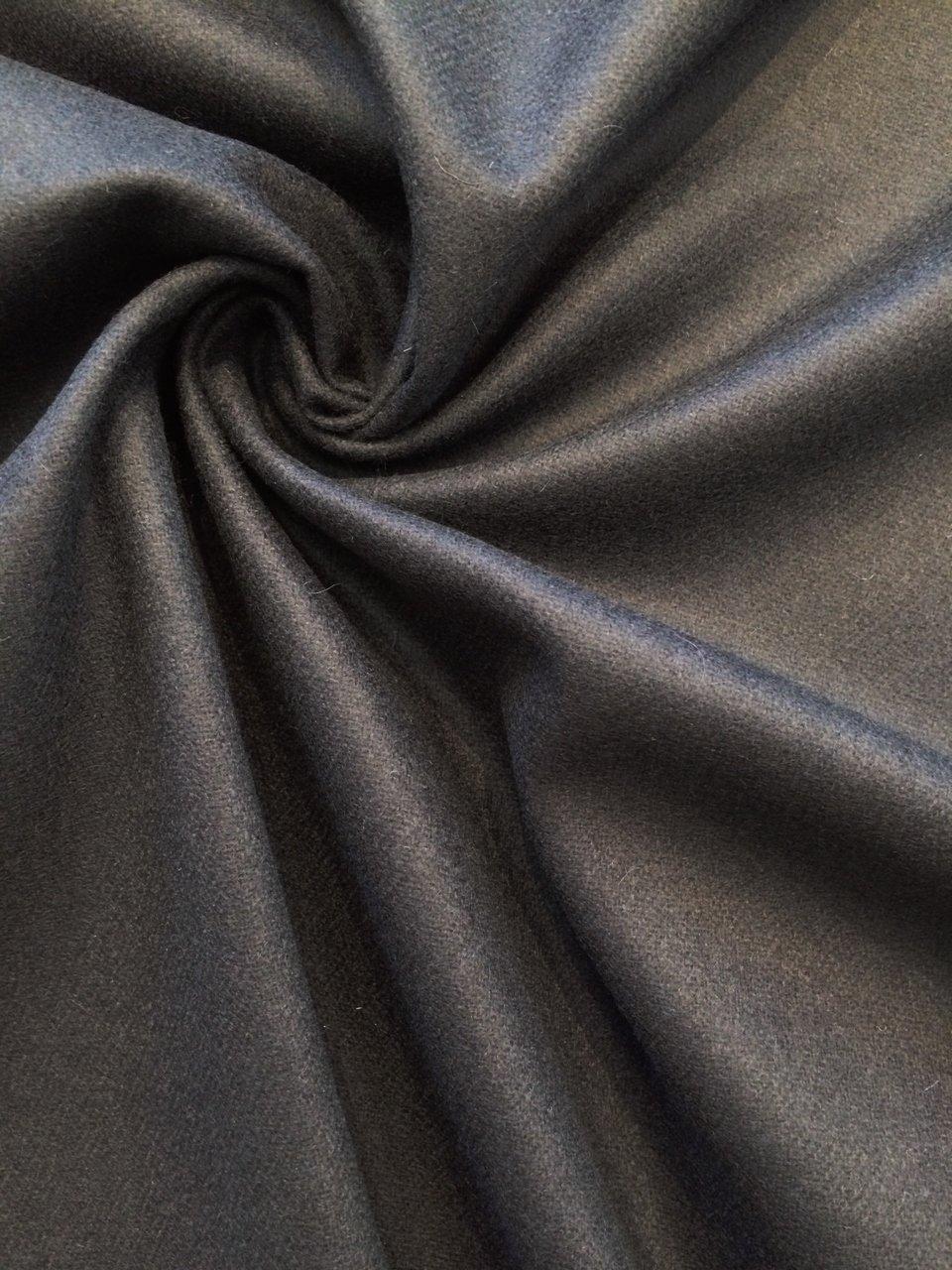 Dark Navy Wool Flannel