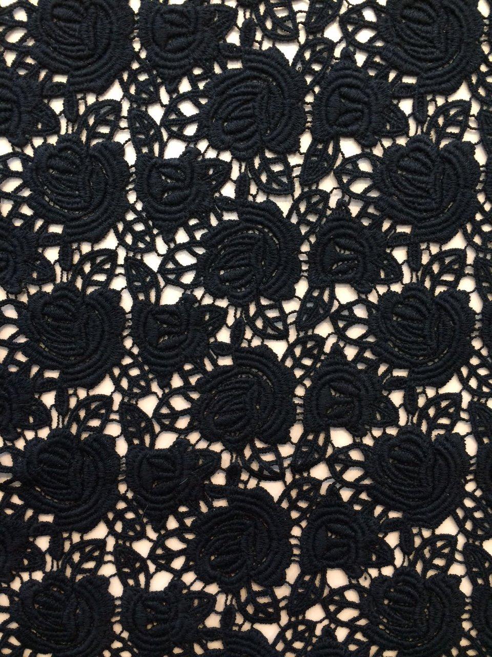 Black Roses Venetian Lace