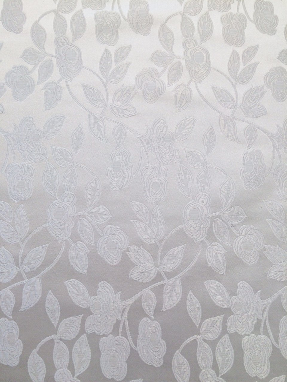 White on White Medium Floral Brocade