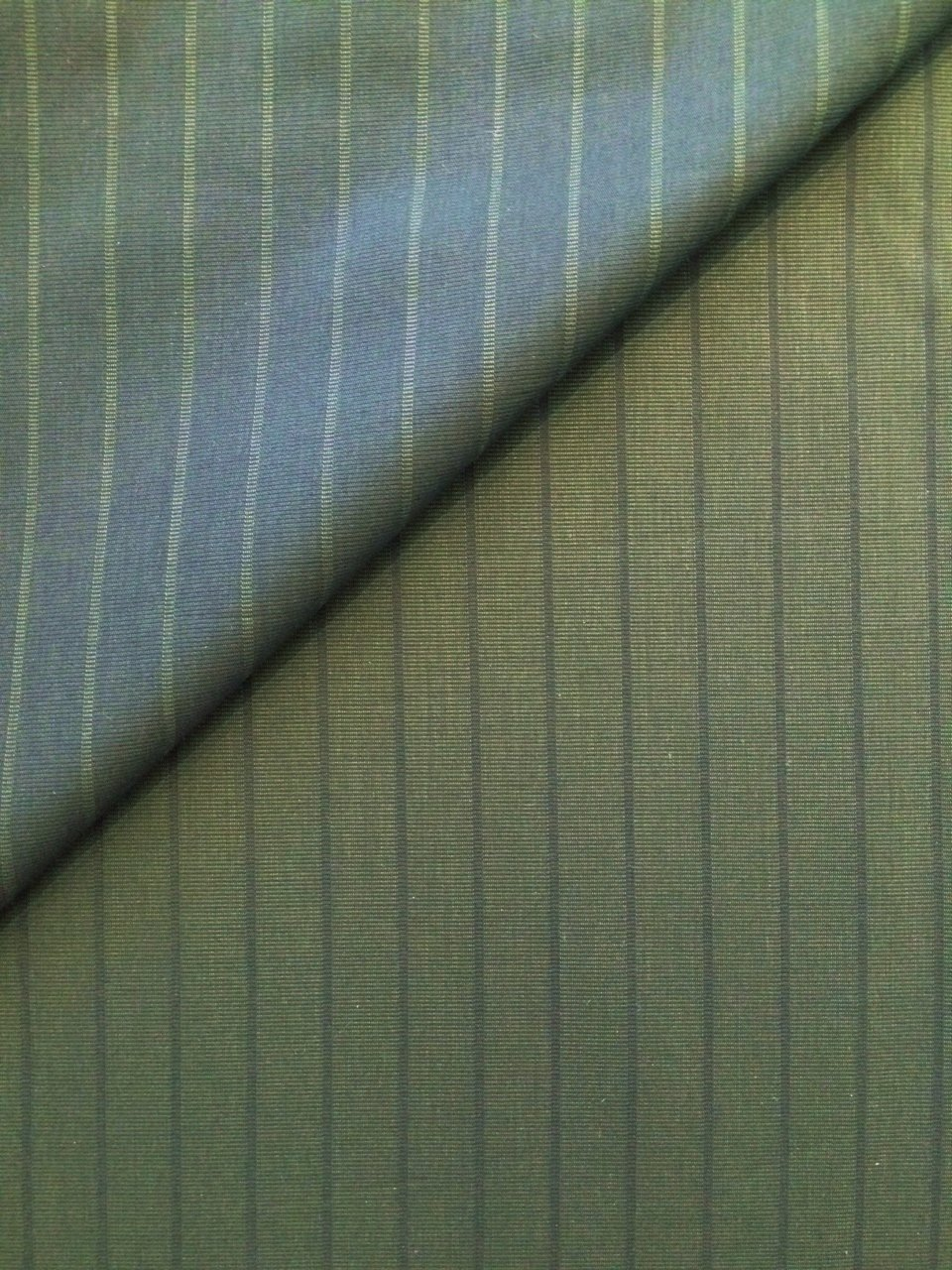 Green / Grey Reversible Stripe Shirting