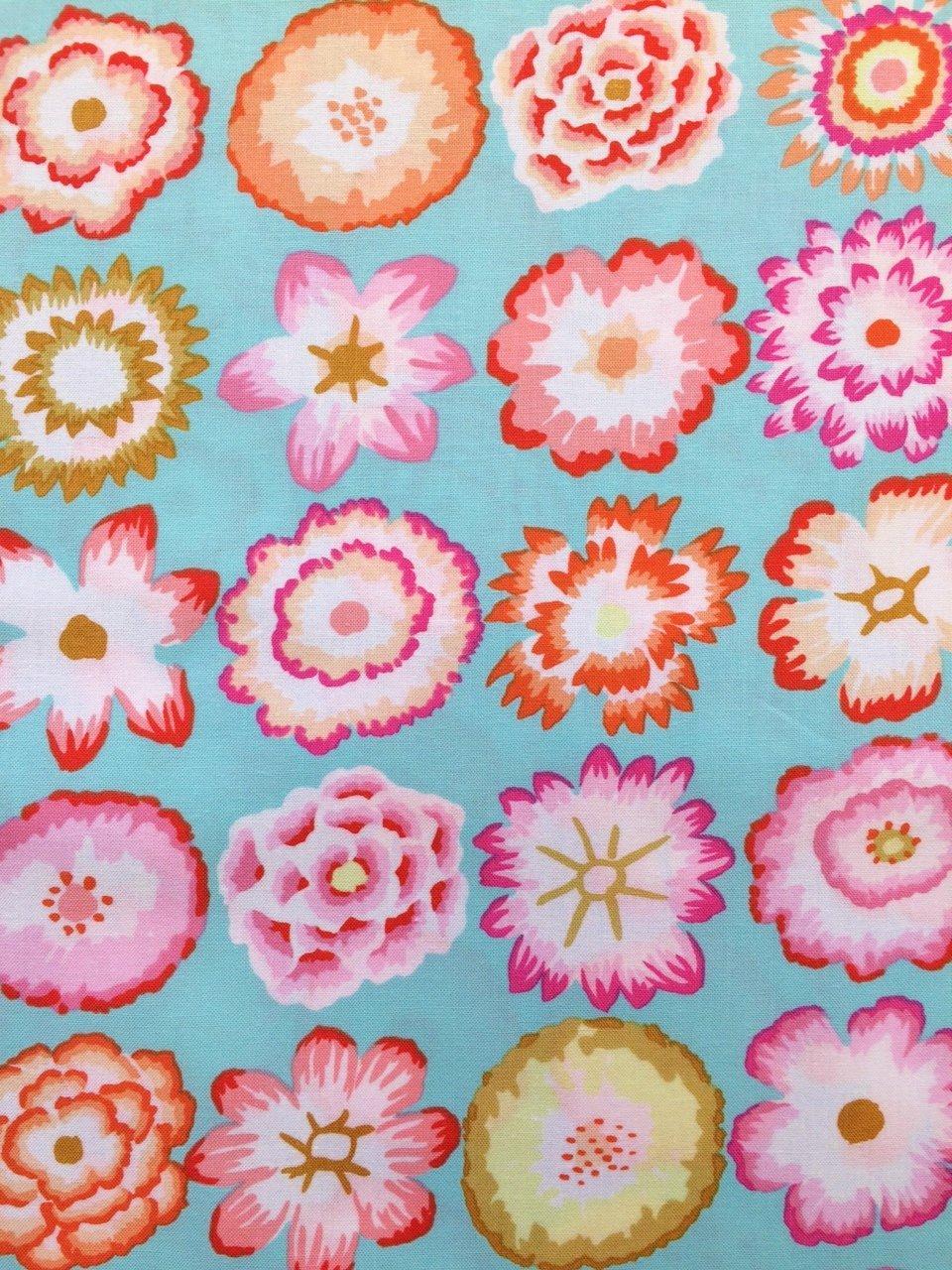 Button Flowers in Aqua: Kaffe Fassett