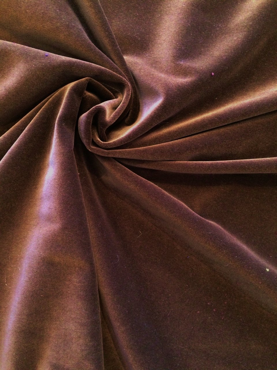 Milk Chocolate Brown Cotton Velvet