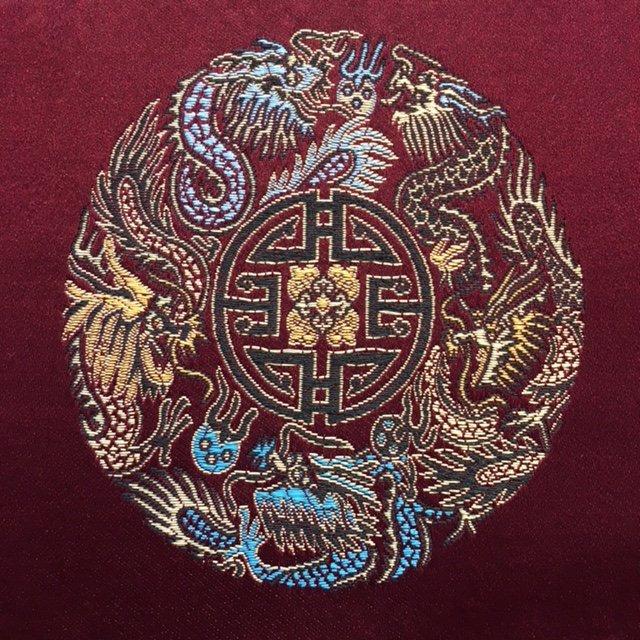Burgundy Medallions Brocade