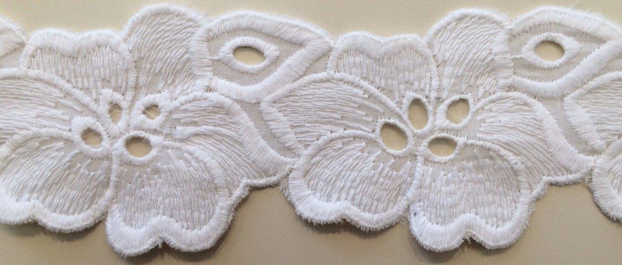 Embroidered Hibiscus Trim