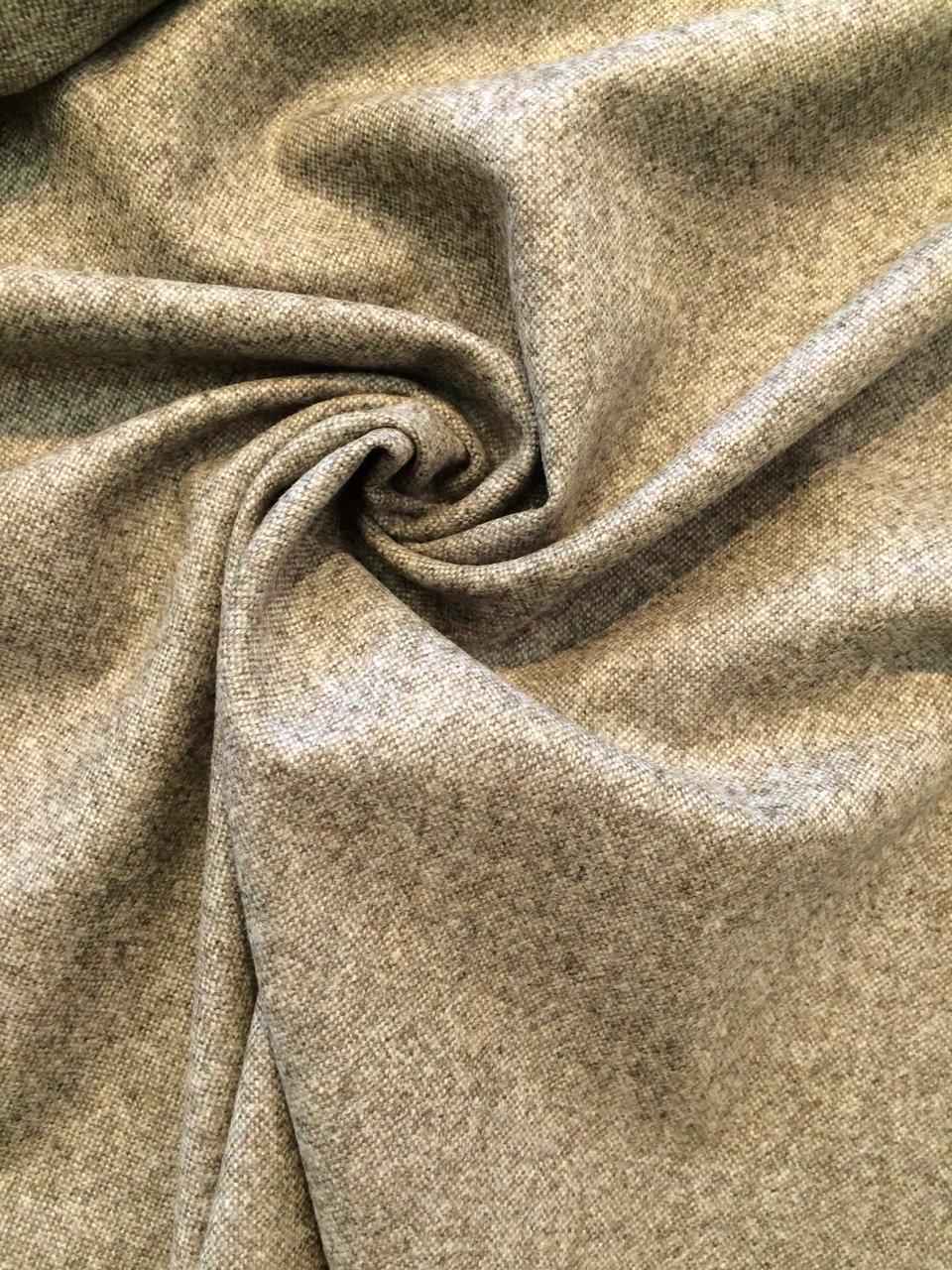 Pale Mocha Wool/ Cashmere Tweed