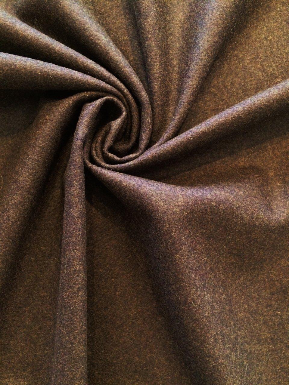 Dark Brown Wool/ Cashmere/ Elastic Flannel