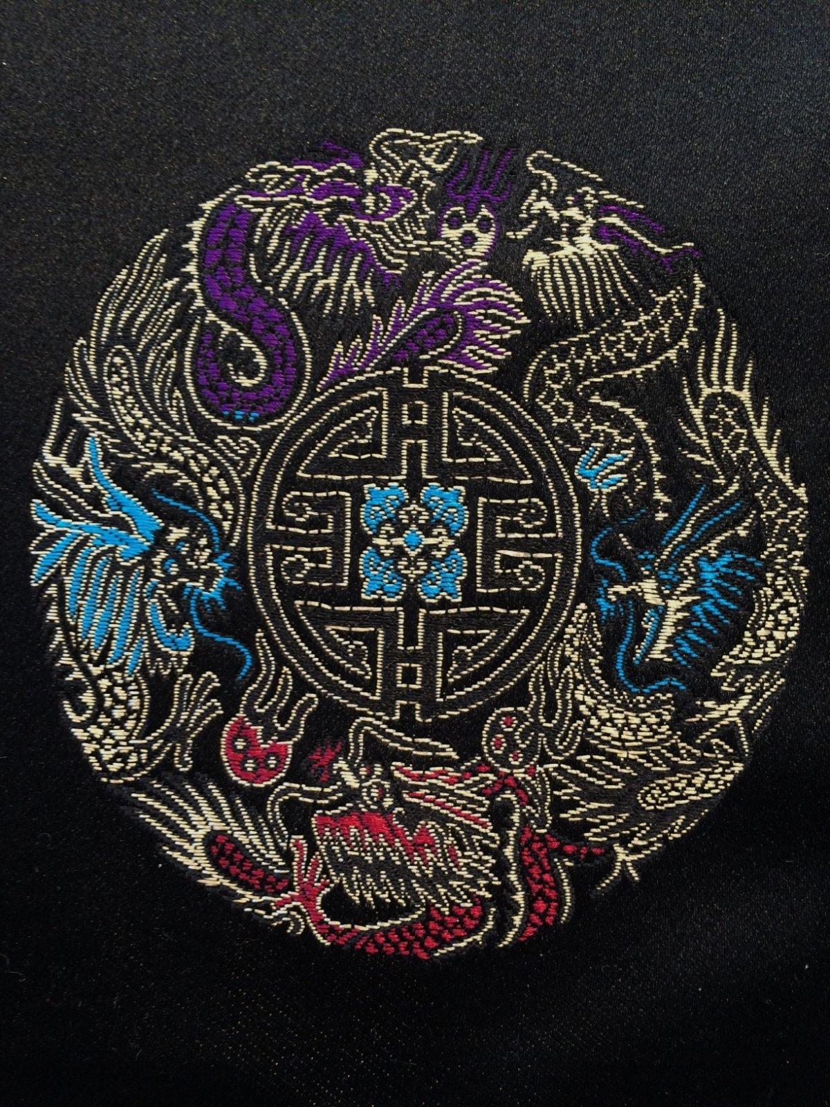 Medallions on Black Brocade