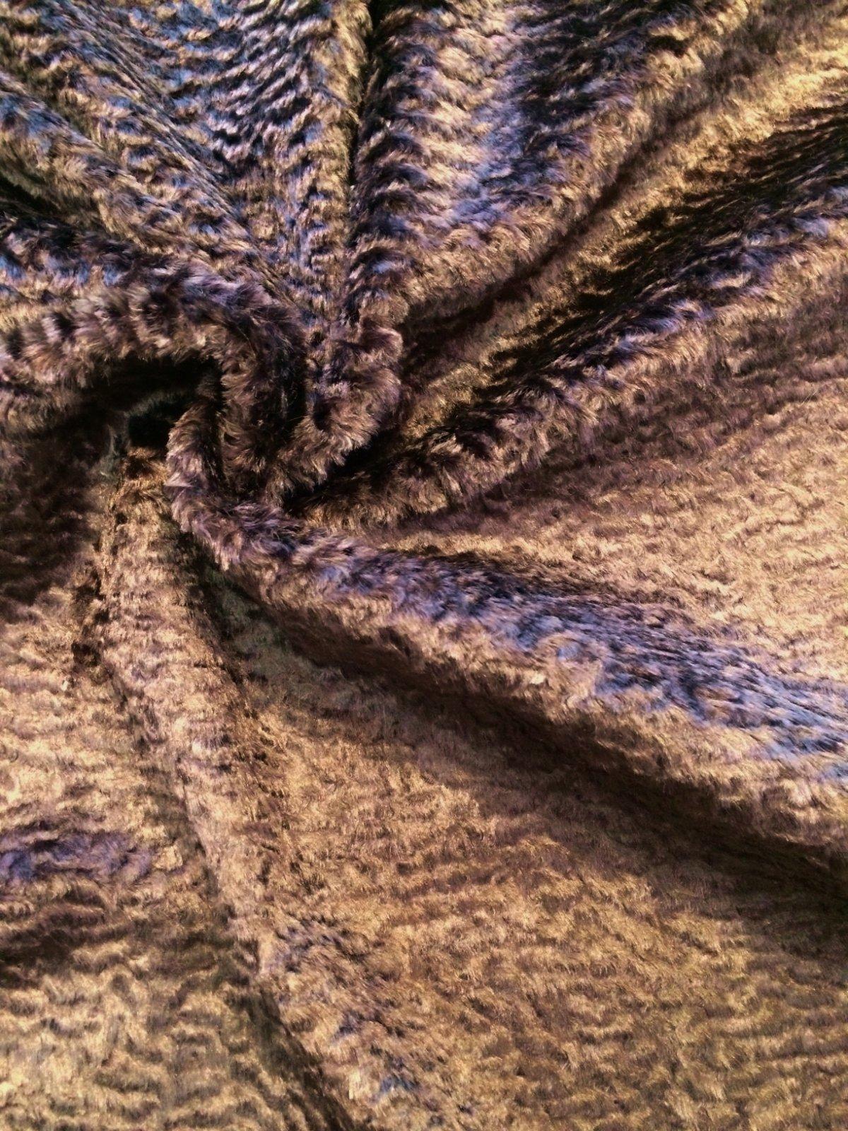 Persian Lamb Faux Fur in Brown