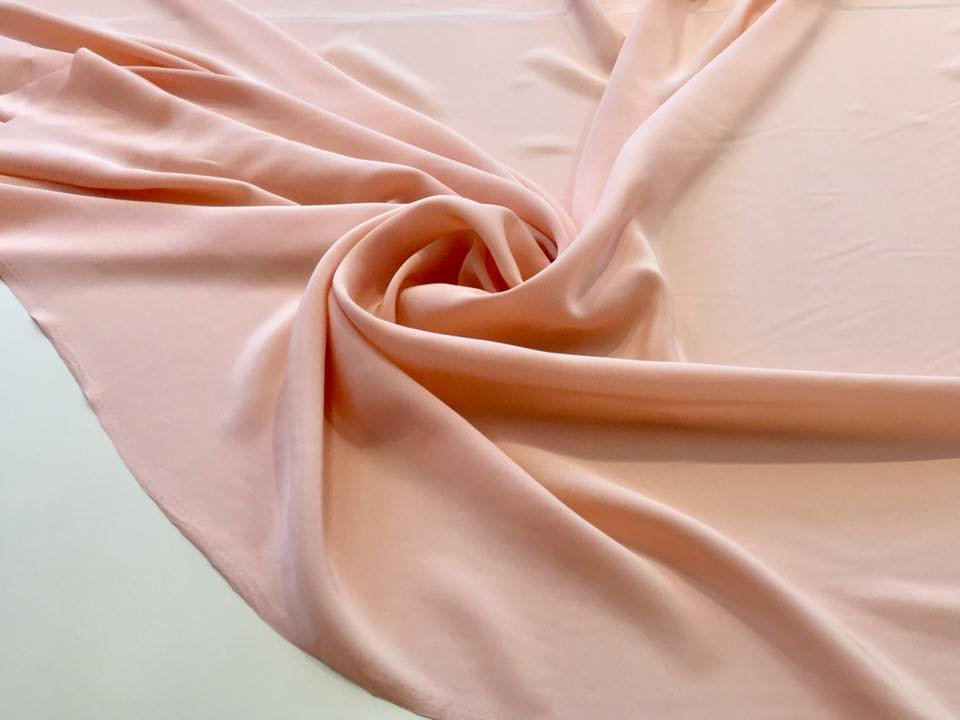 Peach crepe de chine