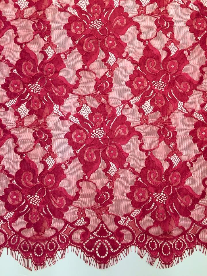 Red Chantilly Lace