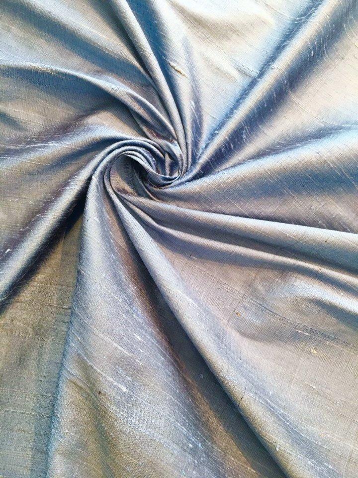 Riviera Blue Silk Dupioni