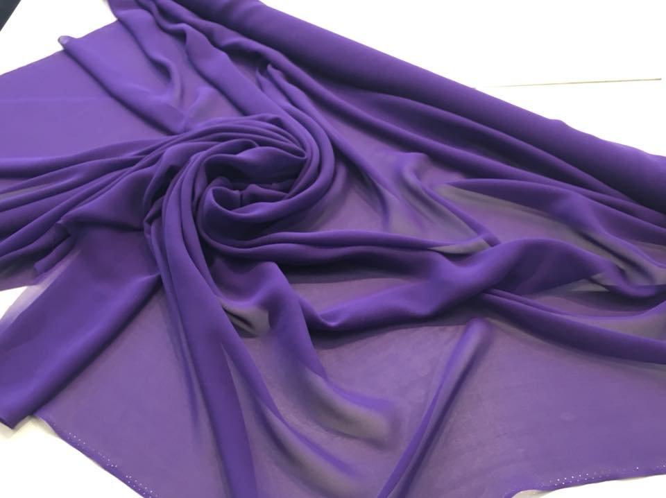 Royal Purple Crepe Chiffon