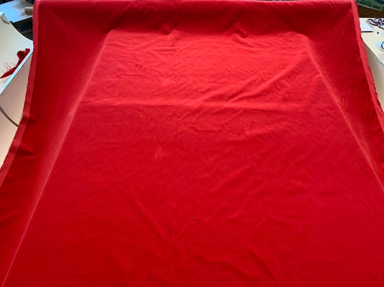 Santa Red Cotton Velvet