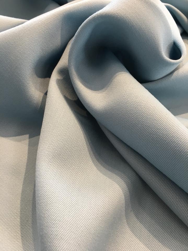 Sky Blue Wool Gabardine