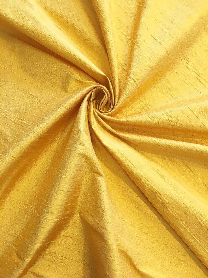 Sun Yellow Silk Dupioni