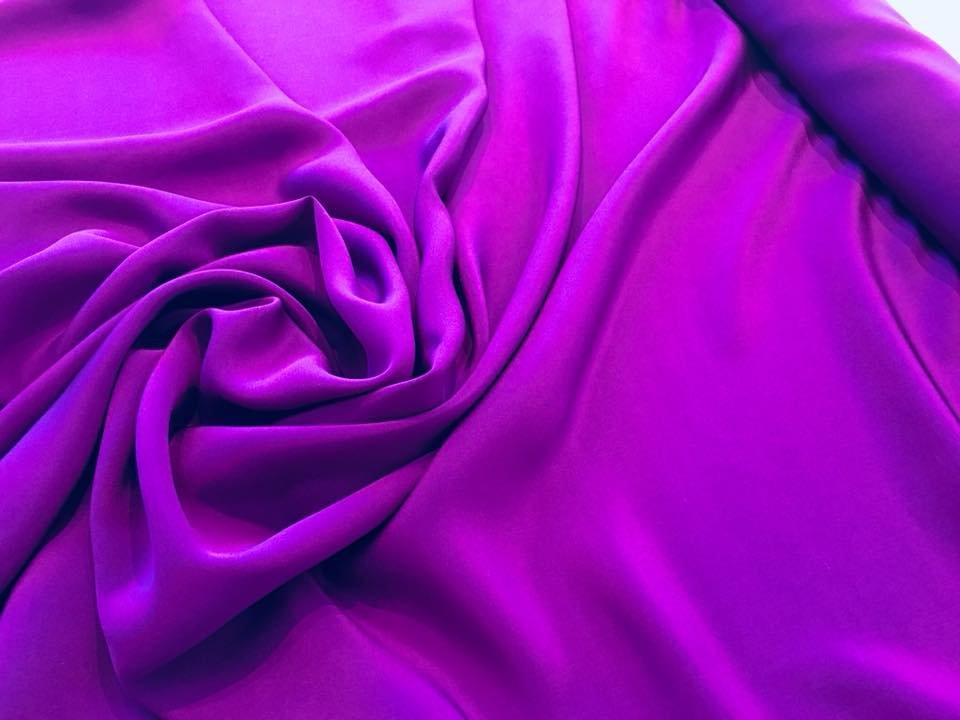 Violet crepe de chine