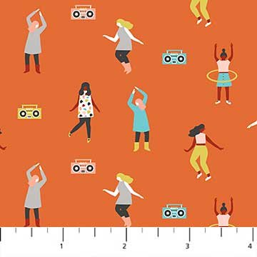 Dance Party in Orange
