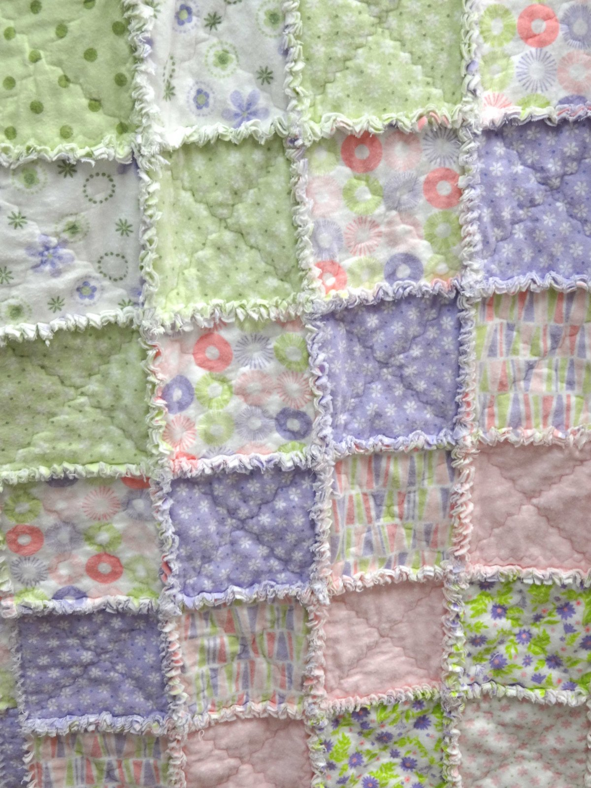 Baby Rag Quilt Kit, Girl : baby quilting kits - Adamdwight.com